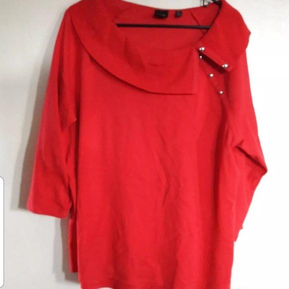 Rafaella Sweaters - 👇$12 Rafaella studio red Cowl neck top